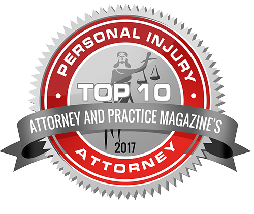 Attorney and Practice Magazine's Top 10 of 2017 in Personal Injury - Ryan Miller, Rosenberg, Miller, Hite & Morilla Law
